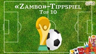 Die Sieger der «Zambo»-Trophy