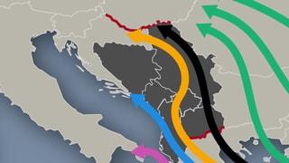Flüchtlingsrouten auf dem Balkan