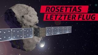 Raumsonde Rosetta wird ausgeschaltet