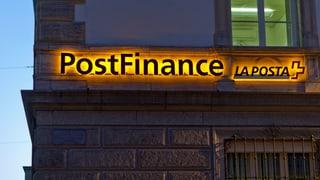 Postfinance metta a dies als clients custs da tschains negativs