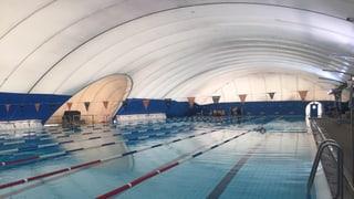 Auch im Winter im Freibad schwimmen