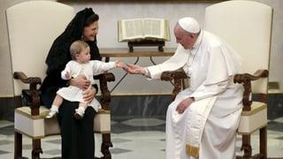 Jöö-Alarm: Prinzessin Leonore bringt Papst zum Lachen