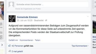 Justiz prüft Facebook-Einträge auf Rassen-Diskriminierung