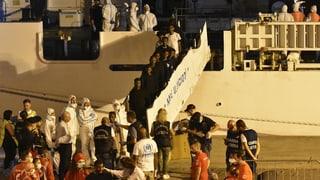 Migranten haben Rettungsschiff «Diciotti» verlassen