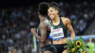 Kambundji 4. über 100 m – Staffel auf Rang 2