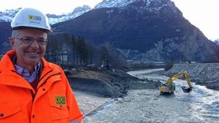 Der Schächenbach im Kanton Uri ist bald gezähmt