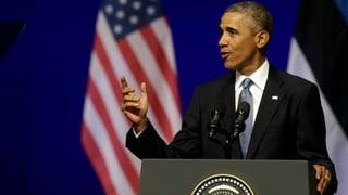 Obama deckt dem Baltikum den Rücken und droht Putin