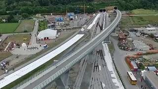 Ceneri-Basistunnel lockt Schaulustige an