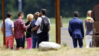 Germanwings-Angehörige nehmen Abschied in den Alpen