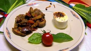 Auberginen-Salat mit Frischkäse