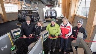 Im «Gütsch-Express» mitten ins Skigebiet