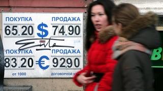 Rubel-Kurs stürzt ab – und zieht Börse mit
