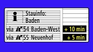 Eine halbe Million Franken für Verkehrstafeln in Baden