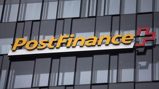 Postfinance bittet Privatkunden zur Kasse