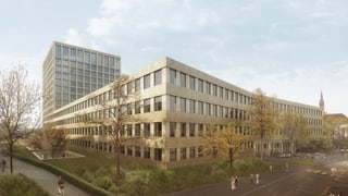 Unispital baut neues Klinikum 2 - Turm im Spitalgarten