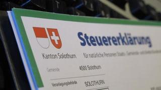 Solothurner Steuererklärung künftig nur noch online?