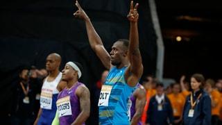 Starkes Comeback: Bolt siegt in London in 9,87 Sekunden