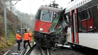 Zug-Crash: Mehrere Verletzte im Spital