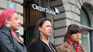 Sioux reden der Credit Suisse ins Gewissen