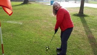 Im Winter wird das Gartenbad Bachgraben zum Golfplatz (Artikel enthält Audio)