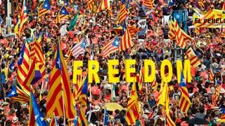 Gegen eine Million Menschen in Barcelona auf der Strasse