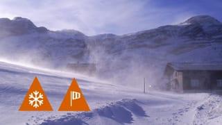 Bis Dienstagmorgen schneit es in den Bergen weiter
