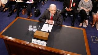 Sessions wird vom Senatsausschuss gegrillt – und nennt die Vorwürfe im Zusammenhang mit möglichen Russland-Kontakten eine «abscheuliche Lüge».