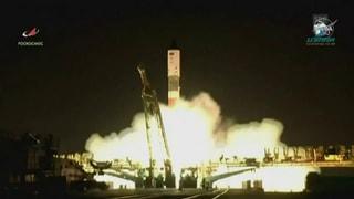 Die Sojus-Rakete ist auf dem Weg zur ISS