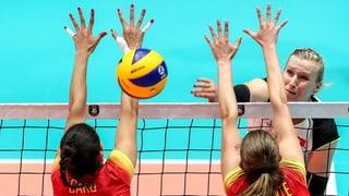 Volleyballerinnen verlieren gegen Spanien knapp und scheiden aus