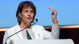 Doris Leuthard interveniert in Deutschland
