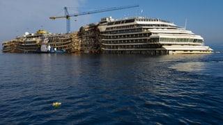 Letzte Reise der Costa Concordia führt nach Genua