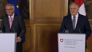 Juncker und Schneider-Ammann zum weiteren Verlauf der Bilateralen