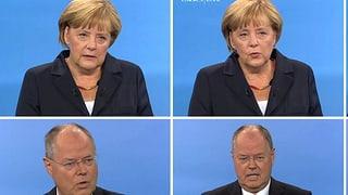 TV-Duell: Merkel sympathisch, Steinbrück zänkisch