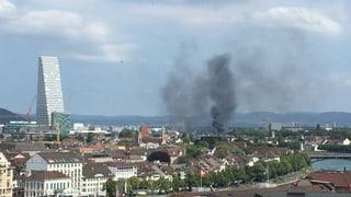 Verkehrschaos in Basel wegen Lastwagenbrand auf der A2