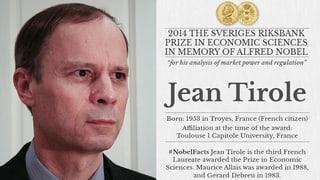 Franzose erhält Nobelpreis für Wirtschaft