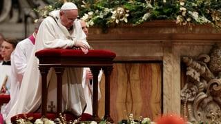 Christmesse in Rom: «Die Welt braucht mehr Zärtlichkeit»