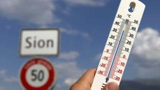 Rekord: 38 Grad in Sitten