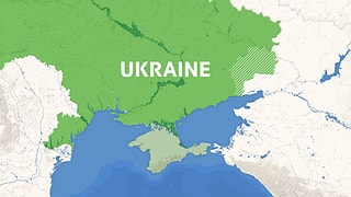 Krise in der Ostukraine – die Infografik zeigt, welche Gebiete umkämpft sind.