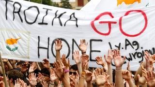 Proteste auf Nikosias Strassen