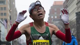 Der siegreiche Amateur mit 79 Marathons in den Beinen