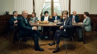 Das offizielle Bundesratsfoto im Wandel der Zeit.