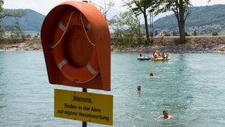 Baden im Fluss: Derzeit selbst für gute Schwimmer ein Risiko