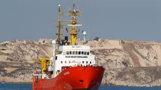 Rom verweigert «Aquarius» Einlauf in italienischen Hafen