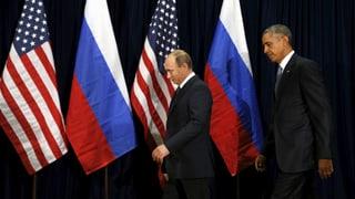 Putin und Obama reden miteinander – sind sich aber weiter uneinig