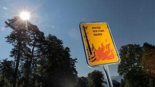 Wegen anhaltender Trockenheit: Keine Feuer im Wald