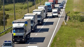 Ukrainischer Hilfstransport steht vor Lugansk