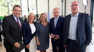 Fünf Regierungsmitglieder wurden im Amt bestätigt. Die Grüne Béatrice Métraux muss in die 2. Runde.