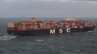 Reederei lässt mit Spezial-Schiffen verlorene Fracht suchen