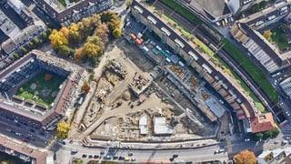 Auf der grössten Baustelle von Luzern entstehen 250 Wohnungen