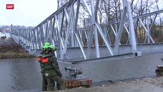 Armee baut Brücke fürs Eidgenössische in Burgdorf
